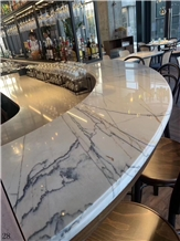 White Marble Kitchen Bar Top Worktop Desk Tops
