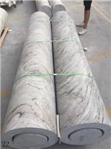 White Marble Natural Stone Column Pillar Pilaster