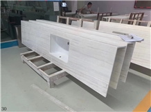White Marble Stone Vanity Top Bathroom Countertop