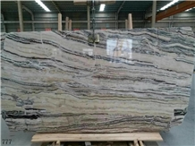 Zebra Jade White Marble Jade Onyx Slab in China