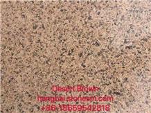 Desert Brown Yellow Brown Granite Walling