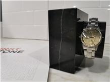 New Black Marble Watch Holder Stone Craft Design