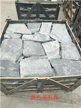 China Blue Quartzite Paving Stone Cobblestone