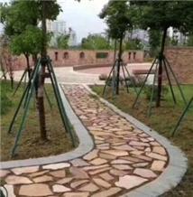 China Pink Loose Stone Random Flagstones