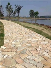 China Rusty Slate Random Road Stone Wall Stone