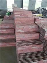 Dark Pink Split Ledgestone Exposed Wall Stone
