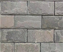 Grey and Pink Slate Mushroom Stone Exterior Wall