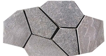 Grey Slate Flagstone Courtyard Road Stone
