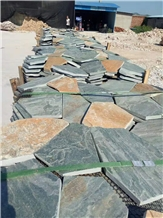 Natural Multicolor Slate Stone Flagstone Flooring