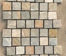 Natural Oyster Quartzite Stone Paving Cubes Flooring