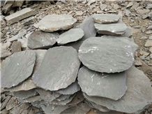 Natural Slate Round Garden Stepping Stone