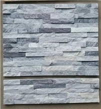 Natural White and Grey Quartzite Ledgestone