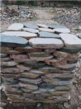 Slate Dark Green Round Stepping Stone Garden Stone