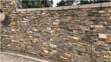 Slate Grey Rusty Cement Cultured Stone Wall Stone