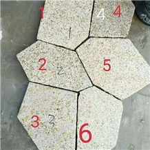 Yellow Granite Flagstone Pitching Road Stone