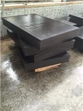 Sichuan Black Sandstone Tiles Wall Application