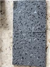 Dark Grey Recycled Glass for Quartz Look