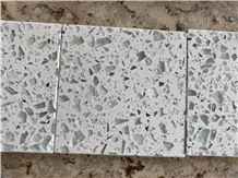 Large Recycled Glass Flecks for Kitchen Countertops