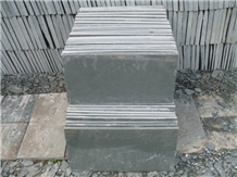 Grey Slate Floor Covering Wall Installation Tiles