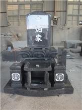 Japanese Style Headstones Black Granite Stone