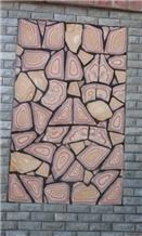Slate Mesh Cube Stones Paver Exterior Pattern