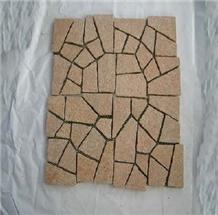 Urban Pavement Granite Cube Stone on Mesh Drainage