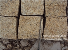 G682 Yellow Rust Stone, Natural Small Square