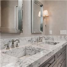 Carrara White Marble Vanitytop for Hotel