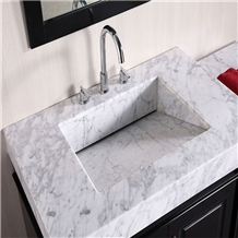 Customize Carrara White Marble Vanity Top