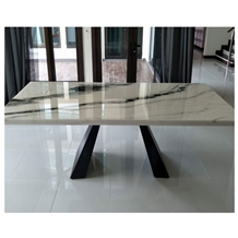 Rectangle China Panda White Table Top