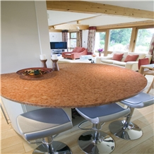 Round Red Coral Marble Table Top