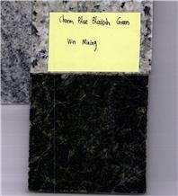 Charm Blue Blackish Green Granite Slabs, Tiles