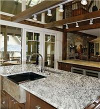 Snow White Flower Granite Kitchen Countertop