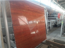 Red Iranian Travertine Slab and Tile