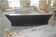 Artificial Stone Boat Shape Bar Counter Top