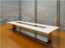 Artificial Stone Office Conference Table Modern