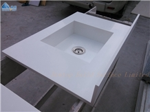 Artificial Stone Pure White Acrylic Vanity Tops