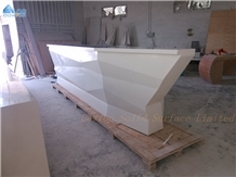 Boat Shape Bar Counter Solid Surface Top