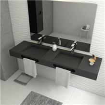 Corian Solid Surface Bathroom Vanity Countertop