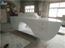 Fancy Reception Desk Solid Surface Countertop