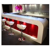 Led Glossy Acrylic Night Bar Counter