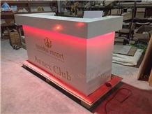 Modern Led Solid Surface Small Bar Counter Table