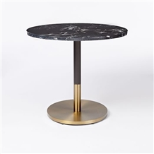 Quartz Top Black Round Dining Table Designs