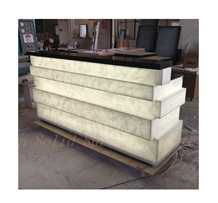 Solid Surface Led Reception Desk Counter