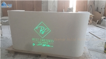 Solid Surface White Salon Reception Desk