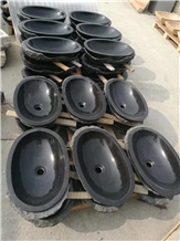Hot Sell Black Natural Bathroom Sink Stone