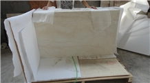 China Cream Beige Travertine Flooring Tiles Slabs
