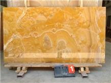 China Luxury Transparent Orange Onyx Slabs Tiles