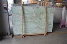 China Rainbow Green Onyx Slabs Bathroom Tiles