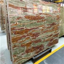 Pakistan Bamboo Green Onyx Slabs Tiles
